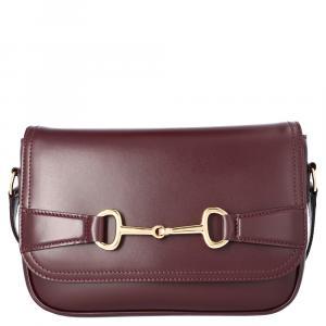 Celine Brown/Dark Brown Satinated Calfskin Leather Crecy Medium Bag