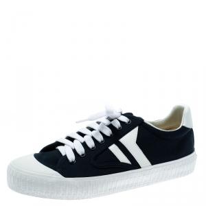 Celine Blue/White Canvas Pilmsole Sneakers Size 38