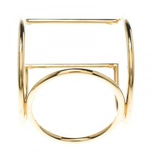 Celine Gold Tone Cuff Bracelet