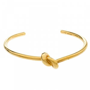 Celine Gold Plated Brass Extra Thin Open Knot Bracelet L