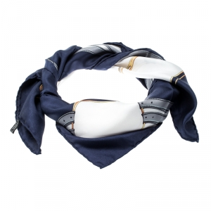 Celine Multicolor Harness Printed Silk Square Scarf