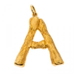 دلاية سيلين حرف أبجدي 'H' مزخرف ذهبي اللون