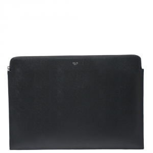 Celine Grey Leather Document Holder