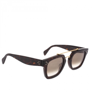 Celine Dark Brown Gradient CL41077/S Double Bridge Sunglasses