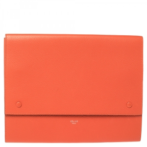 Celine Orange Leather iPad Cover