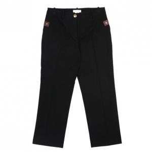 Celine Black Cropped Trousers M