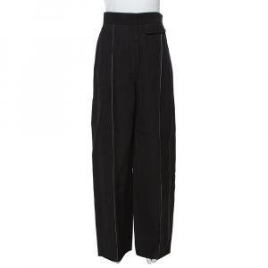 Celine Black Silk Blend Wide Leg Pants M