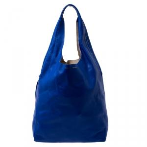 Celine Royal Blue Leather Cabas Hobo