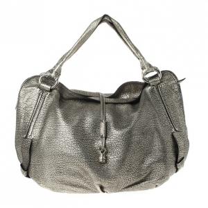 Celine Metallic Leather 'Bittersweet' Large Hobo Handbag