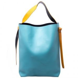 Celine Tricolor Leather Oversize Twisted Cabas Hobo