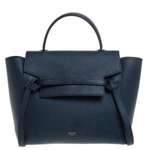 Celine Navy Blue Leather Belt Bag