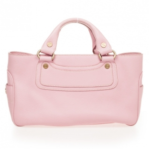 Celine Pink Leather Boogie Tote