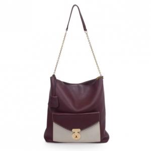Celine Burgundy Leather Envelope Shoulder Bag