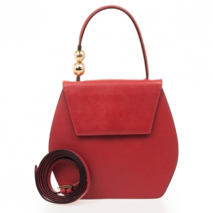 Celine Red Leather Top Handle