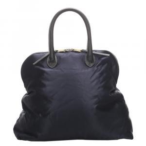Celine Blue/ Dark Blue Nylon Tote Bag