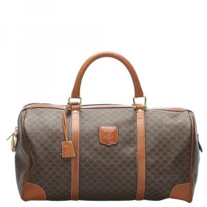 Celine Brown Macadam Boston Bag