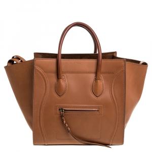 Celine Tan Leather Medium Phantom Luggage Tote