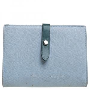 Celine Blue/Green Leather Multifunction Strap Wallet
