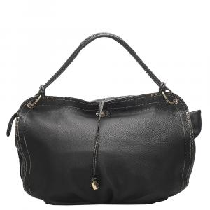 Celine Black Leather Bittersweet Large Bag