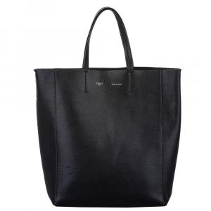 Celine Black Leather Vertical Cabas Small Bag