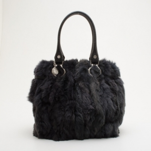 Celine Gray Fur Large Tote