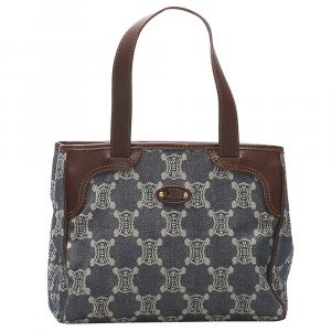 Celine Blue/Black Denim Macadam Bag