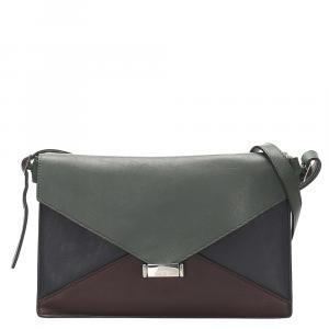 Celine Multicolor Leather Diamond Clutch Bag