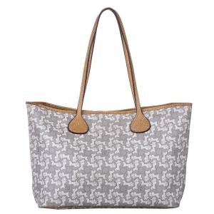 Celine Grey/White PVC Leather Carriage Tote Bag