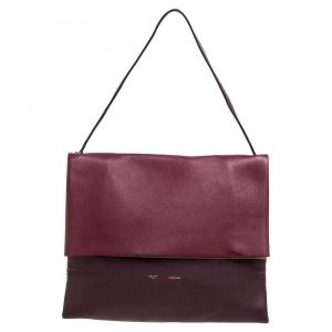 Celine Tri Color Leather And Suede All Soft Shoulder Bag