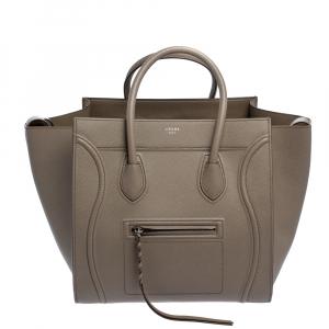 Celine Taupe Leather Medium Phantom Luggage Tote