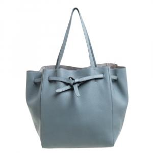 Celine Powder Blue Soft Grained Leather Small Cabas Phantom Tote