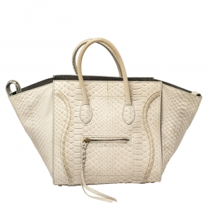 Celine Grey Python Medium Phantom Luggage Tote