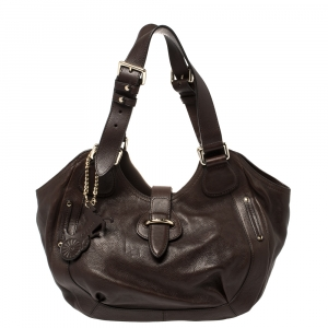 Celine Brown Leather Satchel