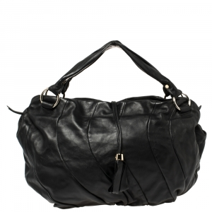 Celine Black Leather Large Bittersweet Hobo