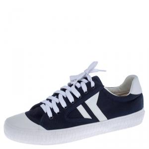 Celine Blue/White Canvas Plimsole Sneakers Size 40