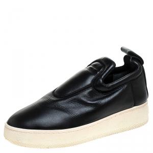Celine Black Leather Slip On Sneakers Size 36