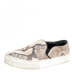 Celine Brown Python Slip On Sneakers Size 38