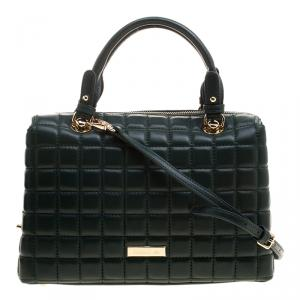 Cerruti 1881 Green Quilted Leather Maya Satchel