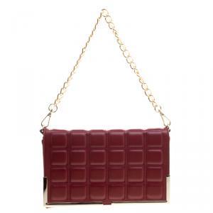 Cerruti 1881 Red Quilted Leather Cerrutis Crossbody Bag