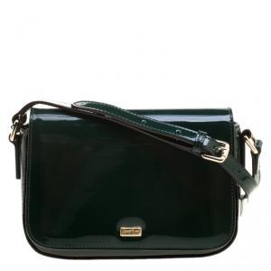 Cerruti 1881 Green Patent Leather Brenda Crossbody Bag