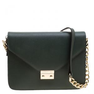 Cerruti 1881 Green Leather Cerrutis Shoulder Bag