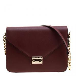Cerruti 1881 Red Leather Cerrutis Shoulder Bag
