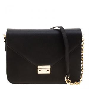 Cerruti 1881 Black Leather Cerrutis Shoulder Bag
