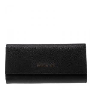 Cerruti 1881 Black Leather Cerrutis Continental Wallet