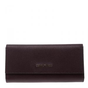Cerruti 1881 Burgundy Leather Continental Wallet