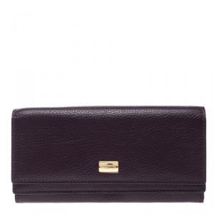 Cerruti 1881 Purple Leather Cerrutis Flap Wallet