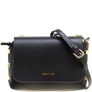 Cerruti 1881 Black Leather Marina Shoulder Bag