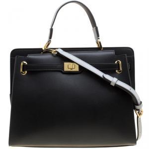 Cerruti 1881 Black Leather Nicole Top Handle Bag