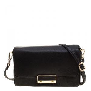 Cerruti 1881 Black Leather Shoulder Bag