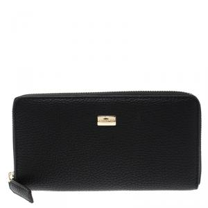 Cerruti 1881 Black Leather Cerrutis Zip Around Wallet